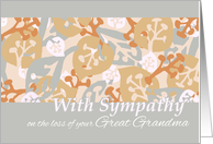 Sympathy Loss of Great Grandma, Contemporary Leaves and Plant Forms card