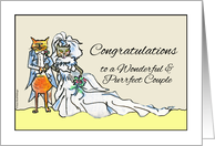 Congratulations Vow Renewal to the Purrfect Couple, Cats card
