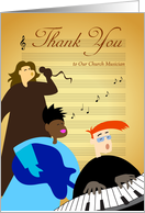 Thank You to our Church Musician, group of Musicians card
