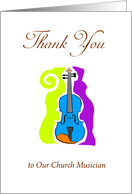 Thank You to our Church Musician, violin card