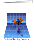 invitation, business blessing ceremony, chart card