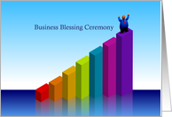 invitation, business blessing ceremony, chart, top card
