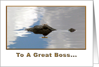 Boss's Day Gator card