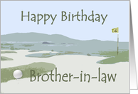 Brother-in-law's Birthday, golf course card