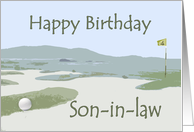 son-in-law's Birthday, golf course card