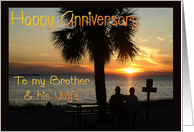 Anniversary, brother and wife card