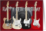 13th Birthday, Guitars card