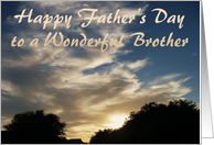 Father's Day Brother, sunrise over trees card