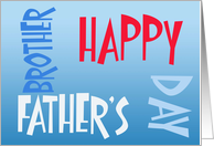 Father's Day Brother, large colorful letters card