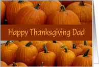 Happy Thanksgiving Dad, pumpkin patch card