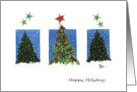 Redbird Christmas Tree card
