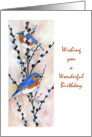birthday bluebirds card