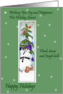 Happy Holidays, Snowman and Friends card
