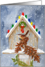Christmas Wren Home Sweet Home card