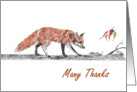 Foxy Thanks card