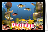 Dressing up fish in fine jewels to celebrate your birthday card