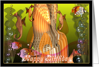 Seahorses celebrate your birthday card