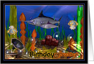 Marlin listen to phonograph to celebrate your birthday card