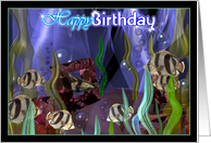 Tropical fish celebrate your birthday card