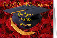 Congratulations on your Ph.D. Degree card