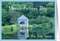 First Father's Day-Reflections in water/Landscape card