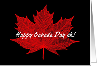 Happy Canada Day eh! card