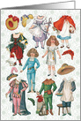 Vintage Fairy Tales Paper Doll Set All Occasion Card