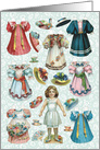 Vintage Ready for Tea Paper Doll Set All Occasion Vintage Card