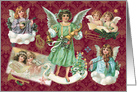Music from the Angels Vintage Christmas card