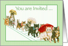 Kitties Walking Together a Group Vintage All Occasion Invitation card