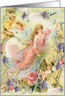 Fairy Friends, angles, cherubs All Occasion Blank Vintage card