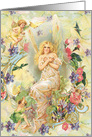 Fairy Friends, angels, cherubs, floral All Occasion Blank Vintage card