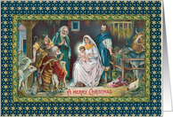 Old World Nativity card