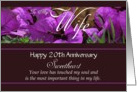 20th Anniversary / To Wife - Bougainvillea Flowers card