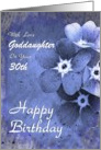 30th Birthday / Goddaughter - Forget-me-not Flowers with Raindrops card