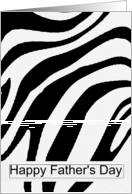 Happy Father's Day - General - Textured Zebra Stripes card