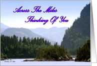 Across the miles / Thinking of you card