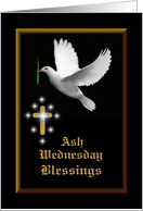 Ash Wednesday - Blessings card