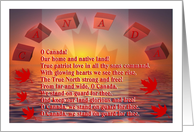 Canada / Happy Canada Day / Lyrics card