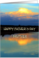 Happy Father's Day Brother / Sunset card