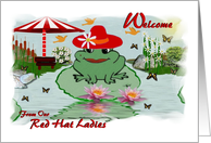 Welcome / From Our Red Hat Ladies card