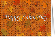 Happy Labor Day / Abstract card