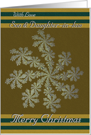 With Love Son & Daughter-in-law - Merry Christmas / Snowflakes card