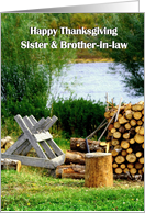 Happy Thanksgiving Sister & Brother-in-law / The Woodpile card