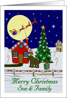 Merry Christmas / Son & Family card
