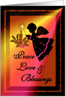 Christmas / Peace, Love & Blessings - Angel / General card
