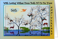56th Wedding Anniversary ~ From Both Of Us ~ Nature Scene card