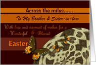 Across The Miles ~ Easter ~ Brother & Sister-in-law ~ Easter Egg / Butterflies card