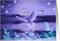 Our Deepest Sympathy ~ Loss of Grandfather ~ Dove In Blue Tones card