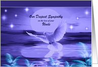 Loss of Uncle ~ Our Deepest Sympathy ~ Dove In Blue Tones card